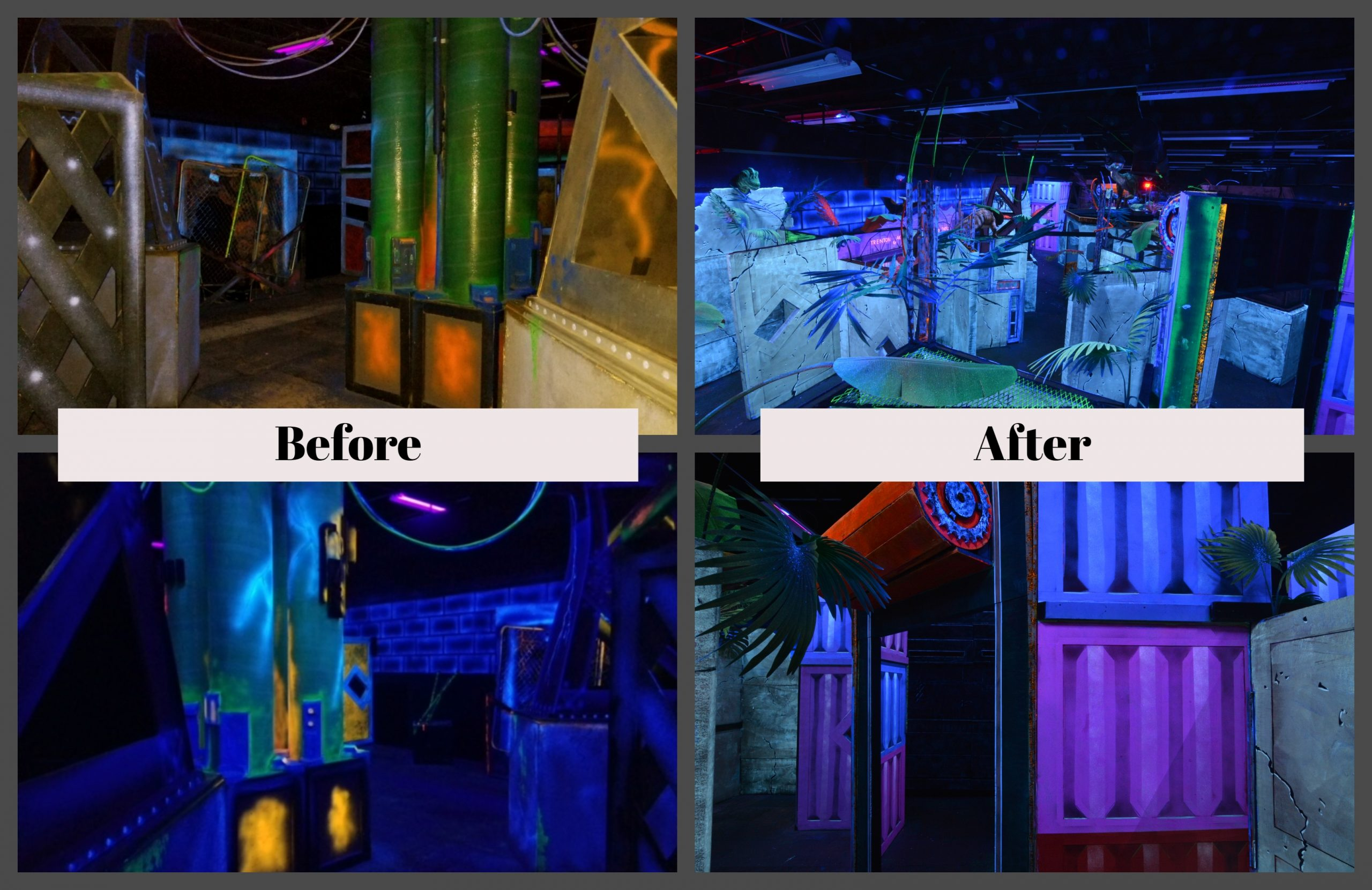 ARC-Studios Laser Tag Arena Refresh Before and After